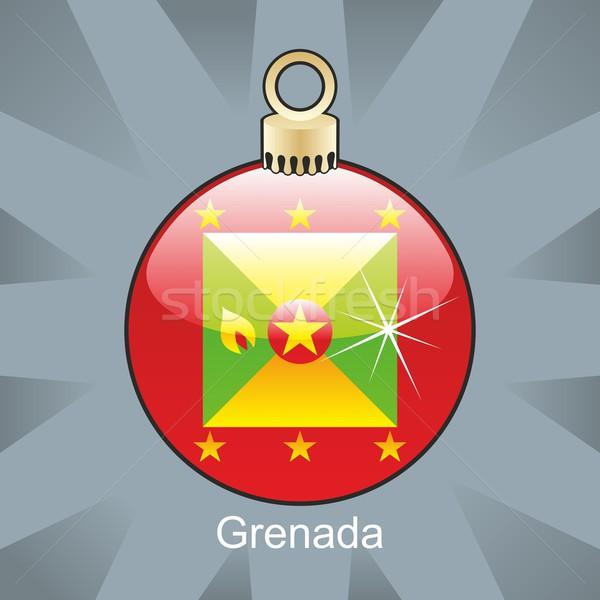 Stockfoto: Geïsoleerd · Grenada · vlag · christmas · lamp · vorm