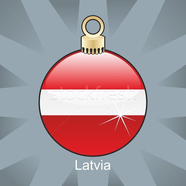 изолированный Латвия флаг Рождества лампа форма Сток-фото © PilgrimArtworks
