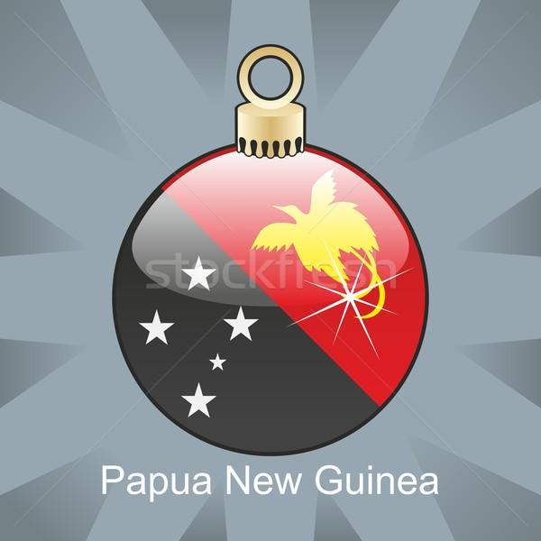 Isolé Papouasie-Nouvelle-Guinée pavillon Noël ampoule forme Photo stock © PilgrimArtworks