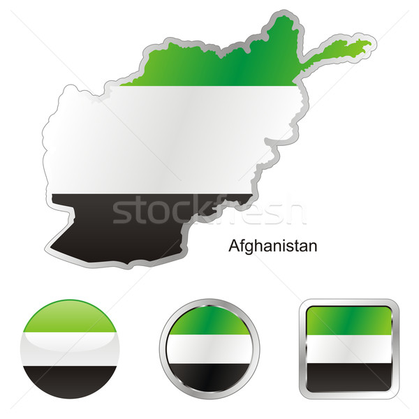 afghanistan in map and internet buttons shape Stock photo © PilgrimArtworks