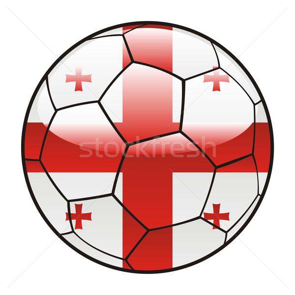 Грузия флаг футбольным мячом Футбол спорт Сток-фото © PilgrimArtworks