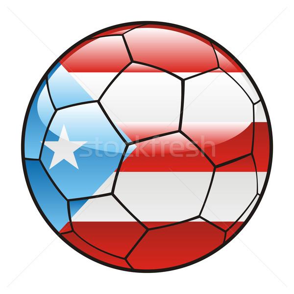 Puerto Rico vlag voetbal voetbal sport voetbal Stockfoto © PilgrimArtworks