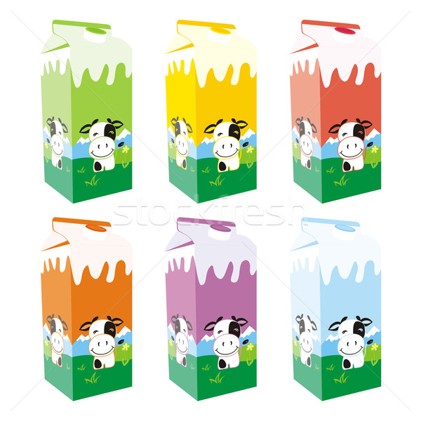 isolated milk carton box Stock photo © PilgrimArtworks