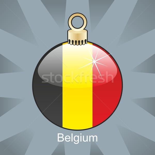 België vlag christmas lamp vorm Stockfoto © PilgrimArtworks