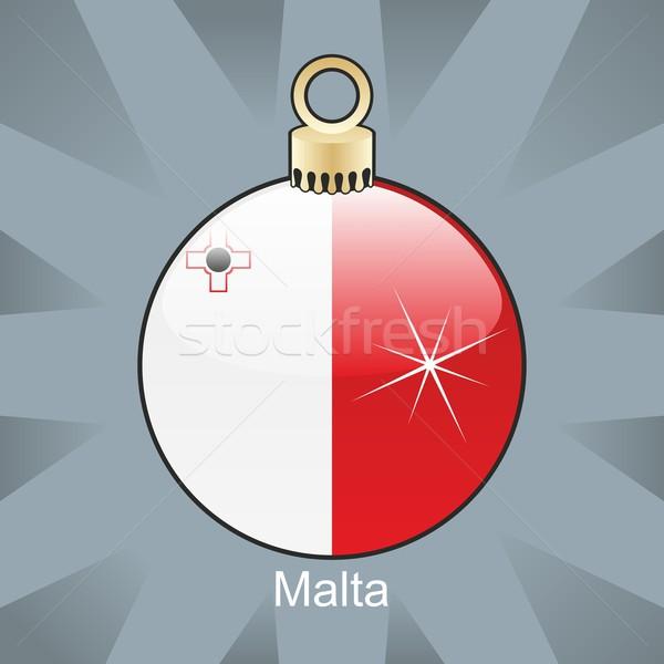 Isolado Malta bandeira natal bulbo forma Foto stock © PilgrimArtworks