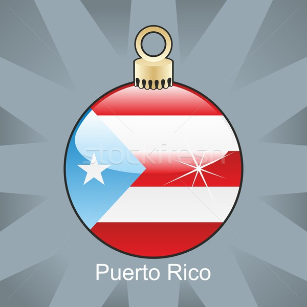 Geïsoleerd Puerto Rico vlag christmas lamp vorm Stockfoto © PilgrimArtworks
