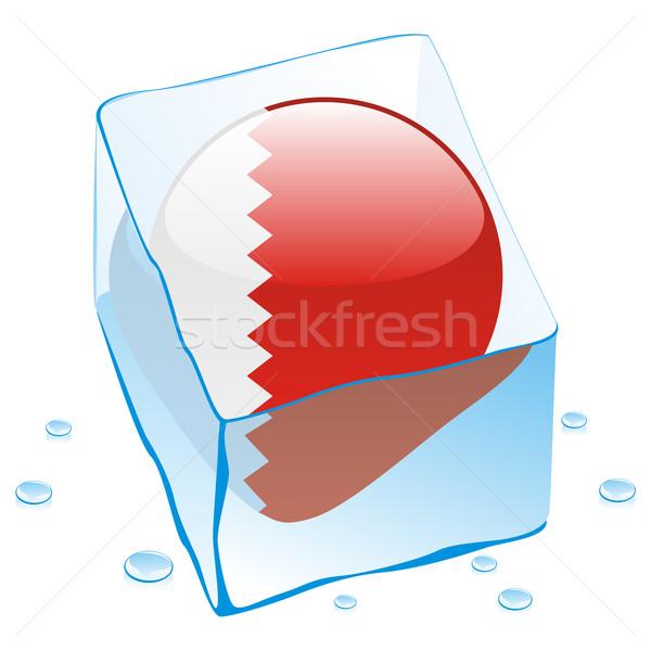 Bahrein botão bandeira congelada ice cube Foto stock © PilgrimArtworks