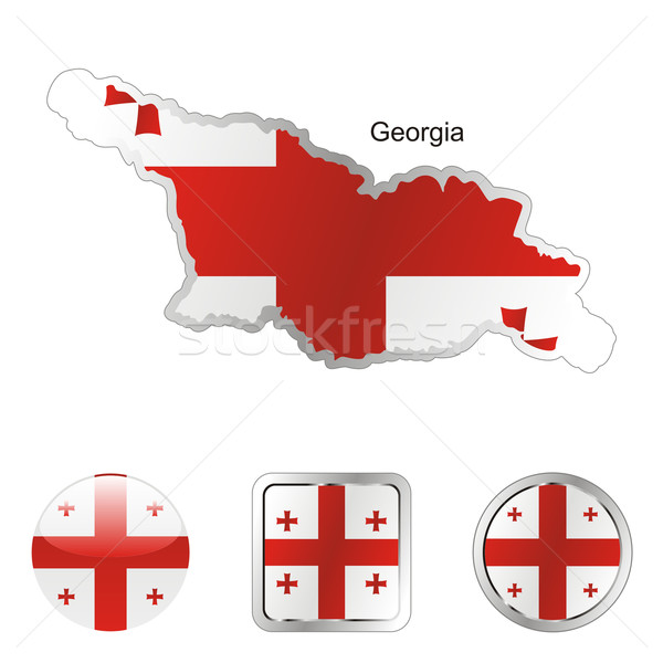 georgia in map and internet buttons shape Stock photo © PilgrimArtworks