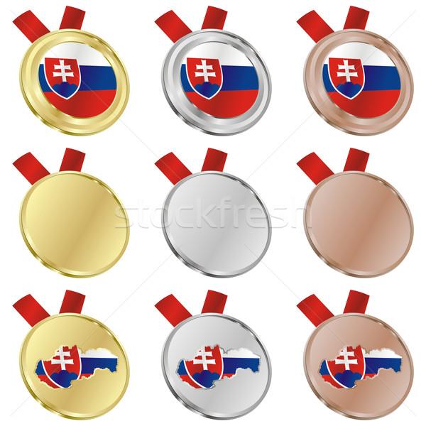 Словакия вектора флаг медаль Сток-фото © PilgrimArtworks