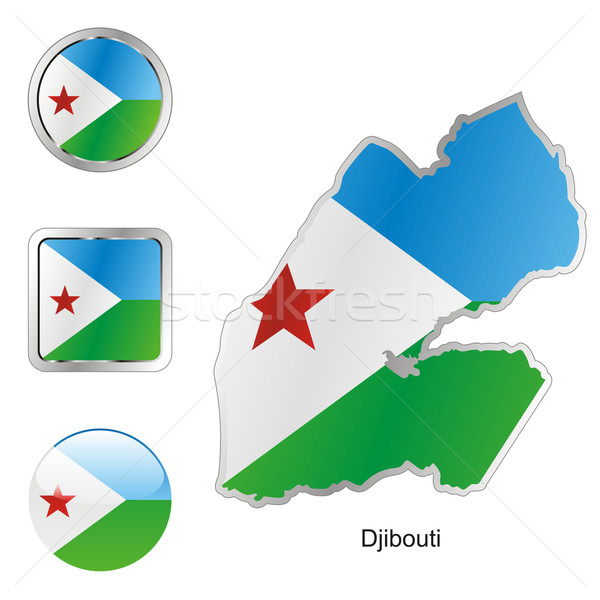 djibouti in map and internet buttons shape Stock photo © PilgrimArtworks