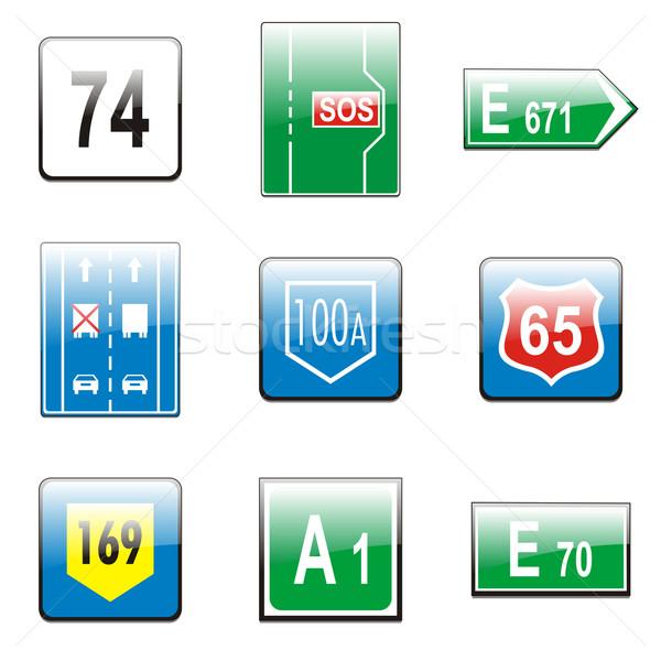 Europese verkeer borden vector details Stockfoto © PilgrimArtworks