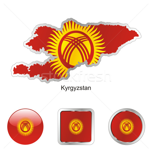 kyrgyzstan in map and internet buttons shape Stock photo © PilgrimArtworks