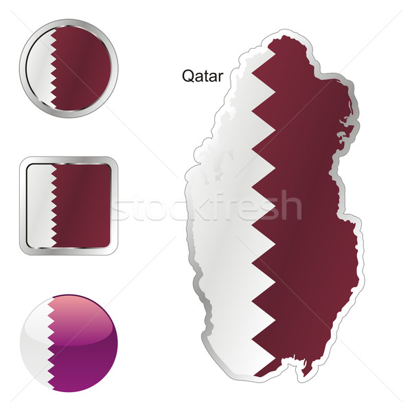 qatar in map and internet buttons shape Stock photo © PilgrimArtworks