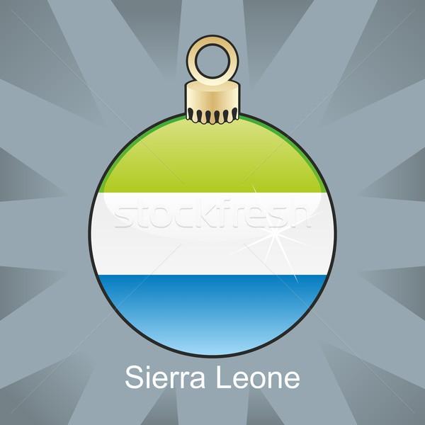 isolated sierra leone flag in christmas bulb shape Stock photo © PilgrimArtworks