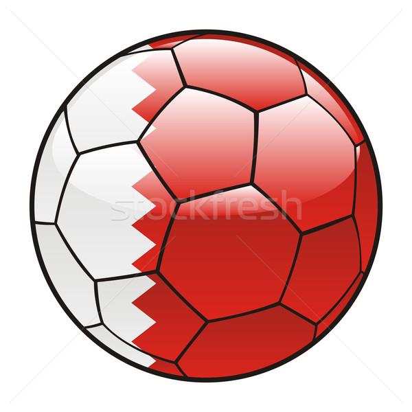 Bahréin bandera balón de fútbol fútbol deporte fútbol Foto stock © PilgrimArtworks