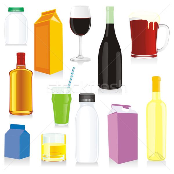 Izolált ital szerkeszthető tengerpart bor fény Stock fotó © PilgrimArtworks