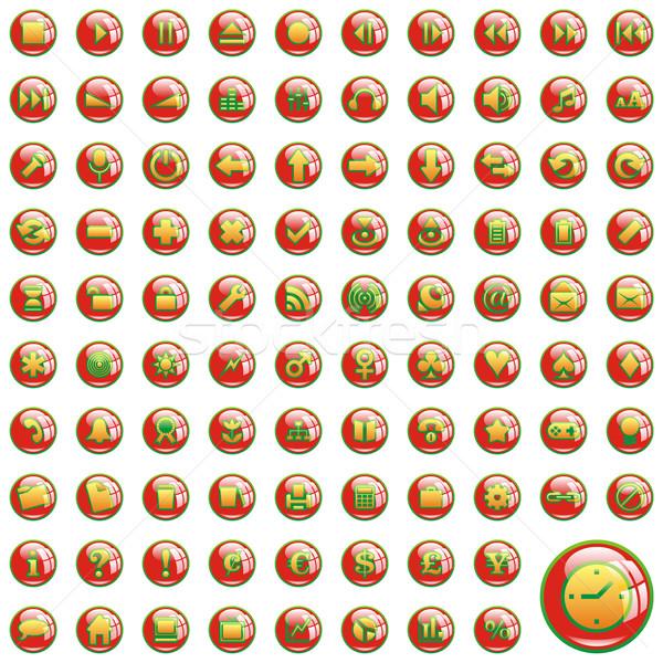 Vettore icone web Natale colori uno cento Foto d'archivio © PilgrimArtworks