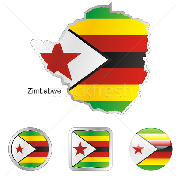 zimbabwe in map and internet buttons shape Stock photo © PilgrimArtworks