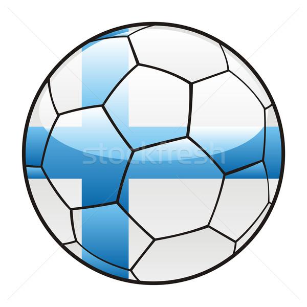 Finlândia bandeira futebol esportes futebol Foto stock © PilgrimArtworks
