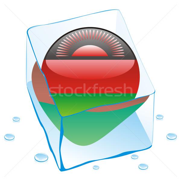 Малави кнопки флаг заморожены Ice Cube Сток-фото © PilgrimArtworks