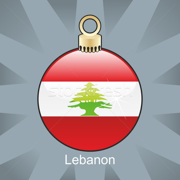 孤立した レバノン フラグ クリスマス 電球 ストックフォト © PilgrimArtworks