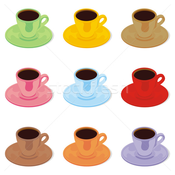 Espresso koffie beker Geel Stockfoto © PilgrimArtworks