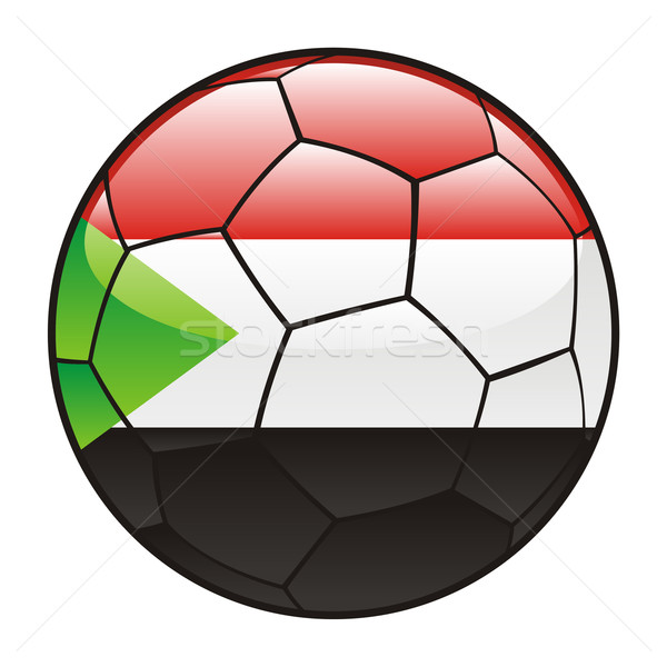 Sudan flag on soccer ball Stock photo © PilgrimArtworks