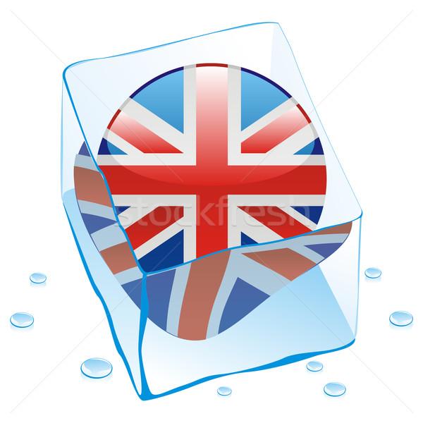 Großbritannien Taste Flagge eingefroren Ice Cube editierbar Stock foto © PilgrimArtworks