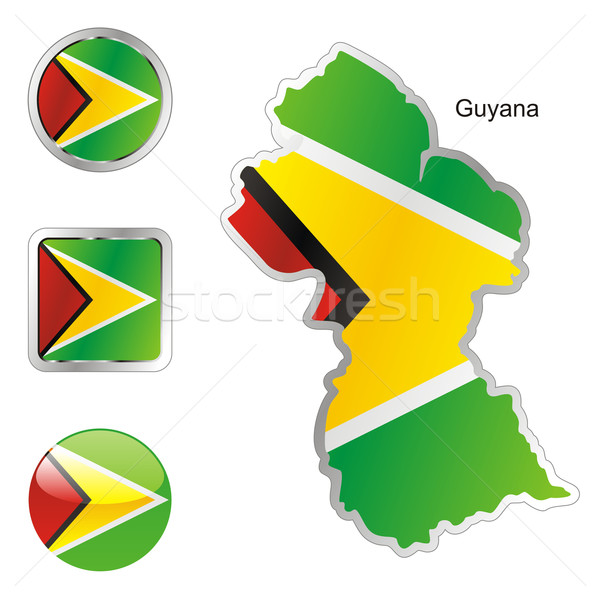 Guyana kaart web knoppen Stockfoto © PilgrimArtworks