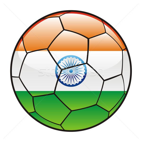 インド フラグ サッカーボール スポーツ サッカー ストックフォト © PilgrimArtworks