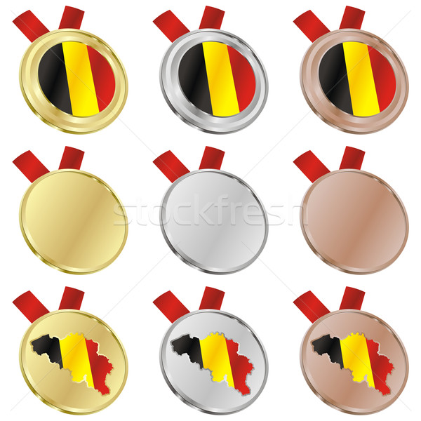 België vector vlag medaille Stockfoto © PilgrimArtworks