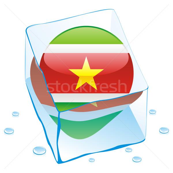 Суринам кнопки флаг заморожены Ice Cube Сток-фото © PilgrimArtworks