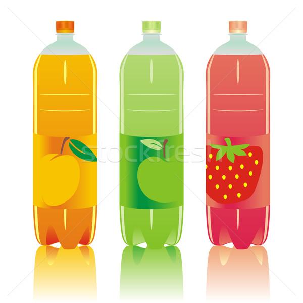 Izolált szénsavas italok szett szerkeszthető doboz Stock fotó © PilgrimArtworks