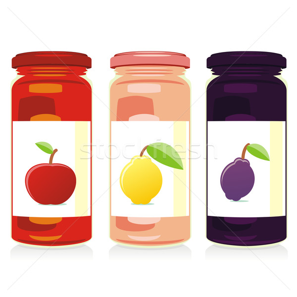 isolated jam jars set Stock photo © PilgrimArtworks