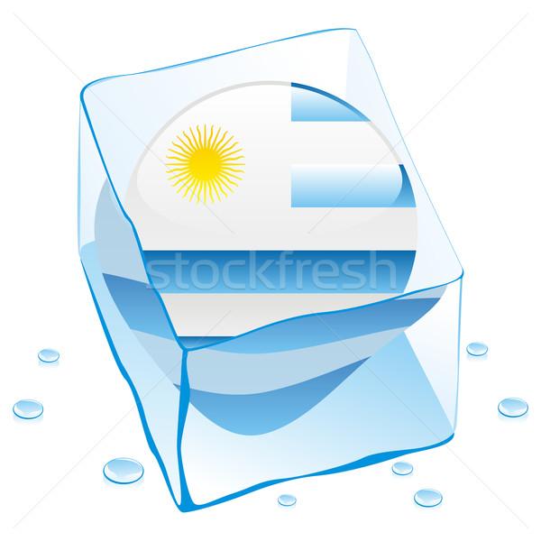 ウルグアイ ボタン フラグ 凍結 アイスキューブ ストックフォト © PilgrimArtworks