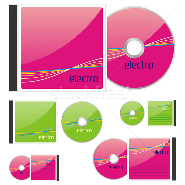 CDs and cases with electro layout Stock photo © PilgrimArtworks