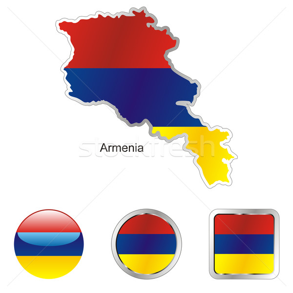 armenia in map and internet buttons shape Stock photo © PilgrimArtworks