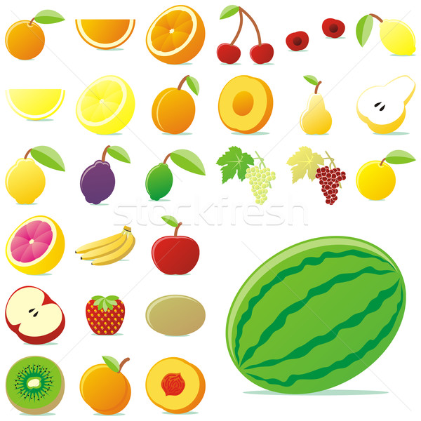 Сток-фото: плодов · детали · готовый · вектора · свет