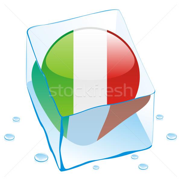 イタリア ボタン フラグ 凍結 アイスキューブ ストックフォト © PilgrimArtworks