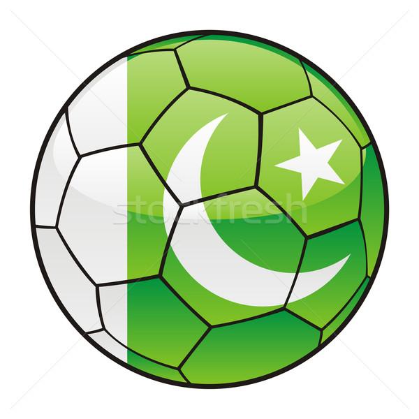 Pakistan vlag voetbal sport voetbal Stockfoto © PilgrimArtworks