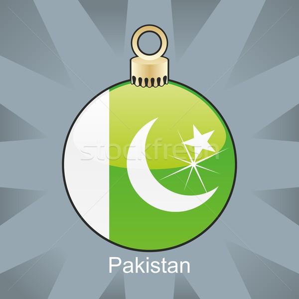 Isolé Pakistan pavillon Noël ampoule forme Photo stock © PilgrimArtworks