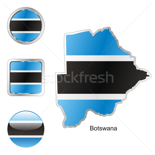 Botswana carte forme pavillon Photo stock © PilgrimArtworks