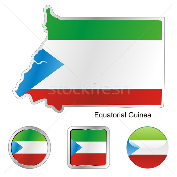 equatorial guinea in map and internet buttons shape Stock photo © PilgrimArtworks