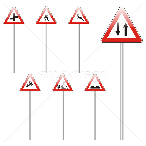 isolated european road signs Stock photo © PilgrimArtworks