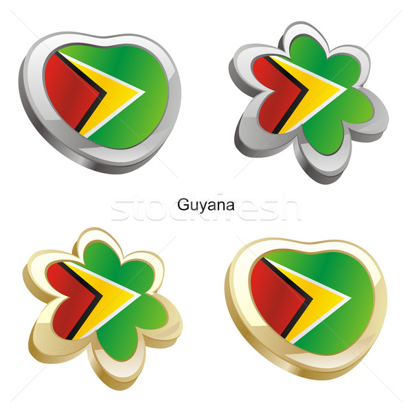 Guyana vlag hart bloem vorm Stockfoto © PilgrimArtworks