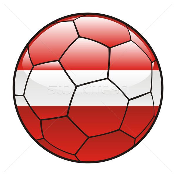 Letland vlag voetbal sport voetbal Stockfoto © PilgrimArtworks