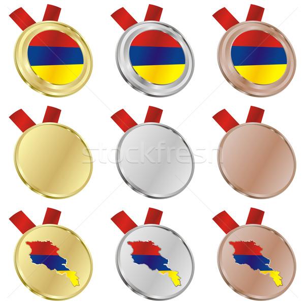 Армения вектора флаг медаль Сток-фото © PilgrimArtworks
