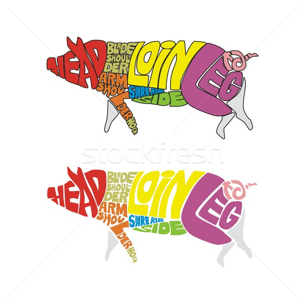 isolated funny pig Stock photo © PilgrimArtworks