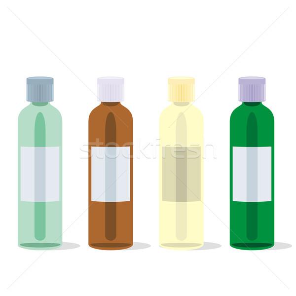 Izolált üvegek szett szerkeszthető gyógyszer Stock fotó © PilgrimArtworks
