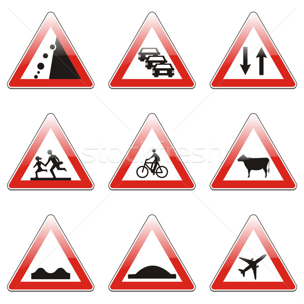 Stock photo: european traffic signs